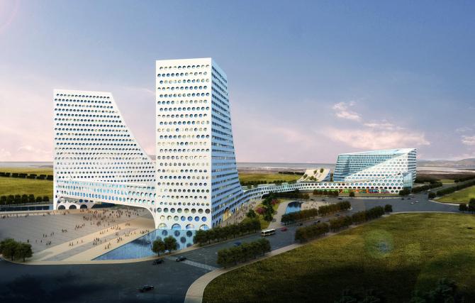青岛硅谷大厦外装饰工程