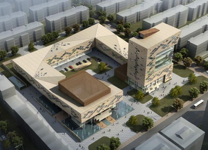 新泰市青云社区管理服务中心外装项目